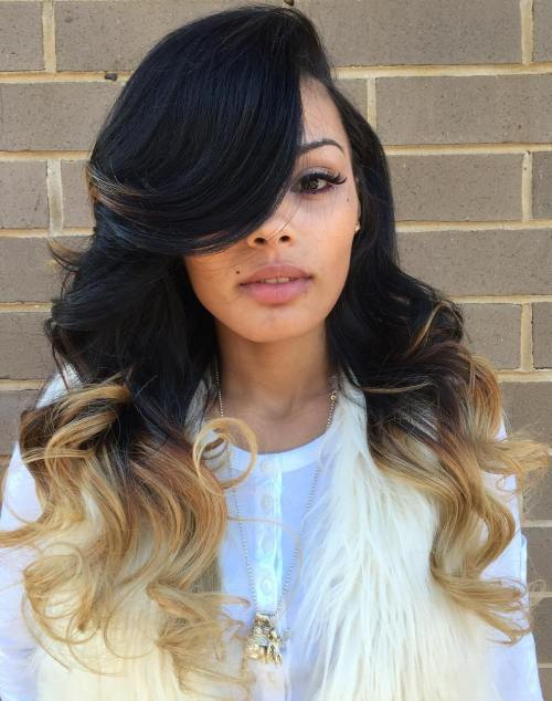 Glamorous Side Part Sew In