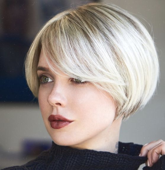Short Bob with Long Bangs