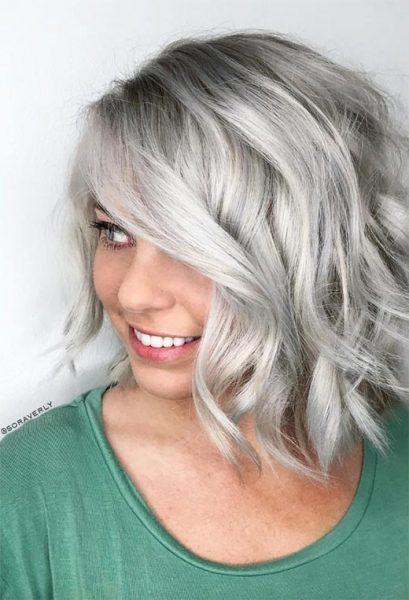 Silver Bob Haircut